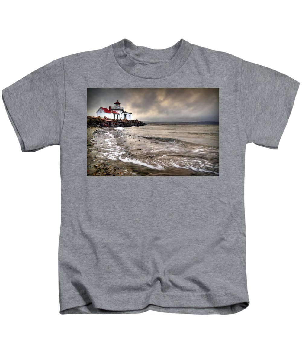 West Point Light House Kids T-Shirt featuring the photograph West Point Light House by Ryan Smith