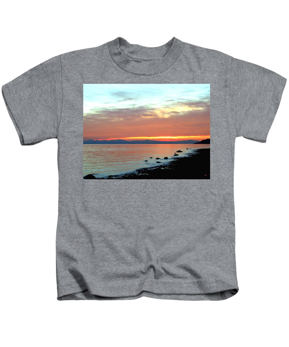 Sunset Kids T-Shirt featuring the photograph West Vancouver Sunset by Will Borden