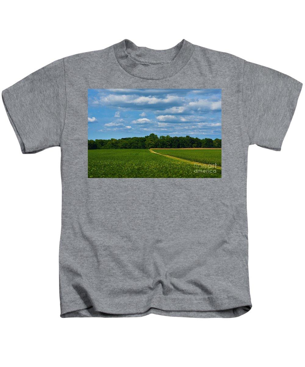 West Virginia Kids T-Shirt featuring the photograph West Virginia Field by Lisa Kleiner