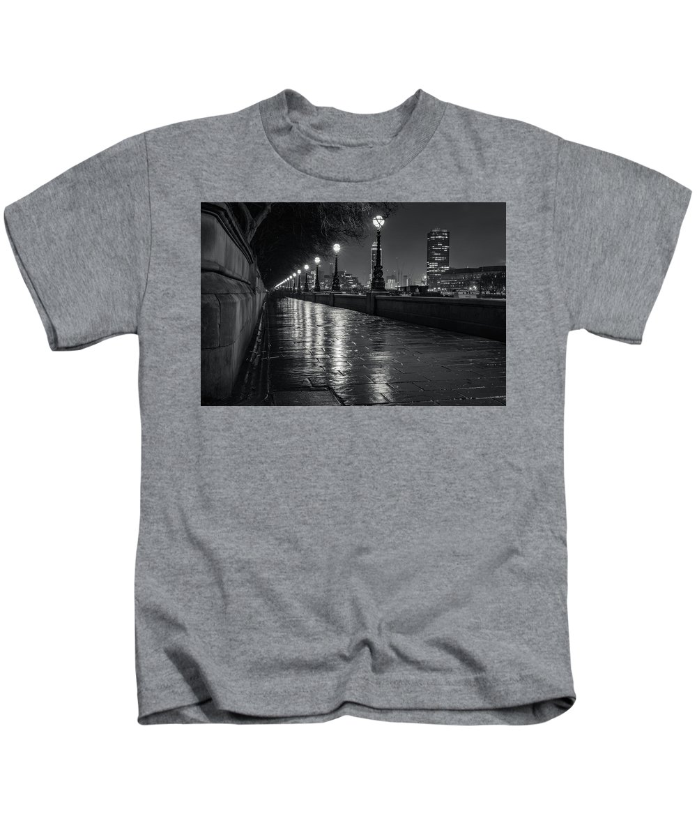 London Kids T-Shirt featuring the photograph Wet Pathway by Andy Denial