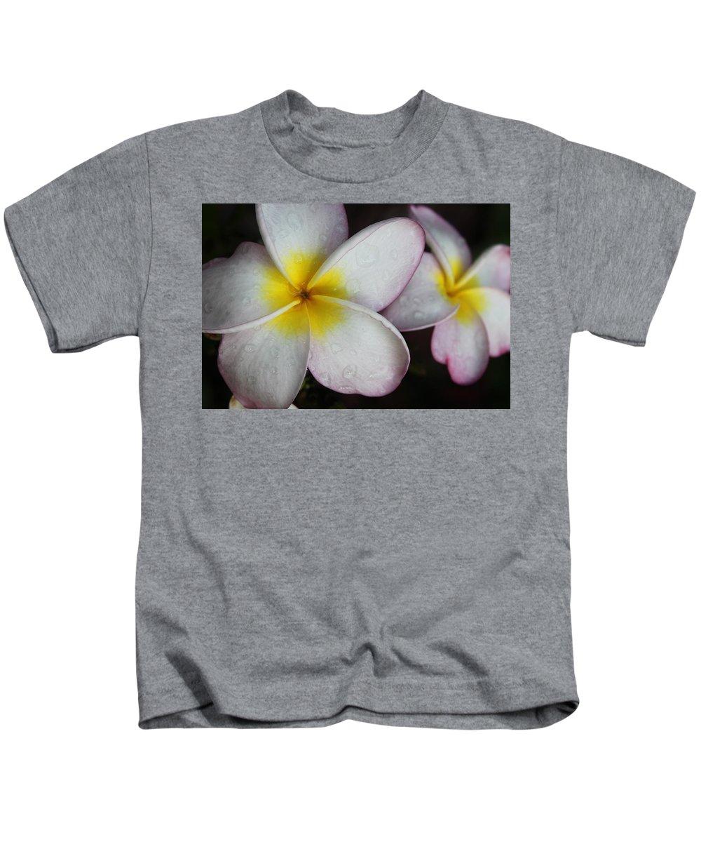 Flower Kids T-Shirt featuring the photograph Wet Petals by Lauri Novak