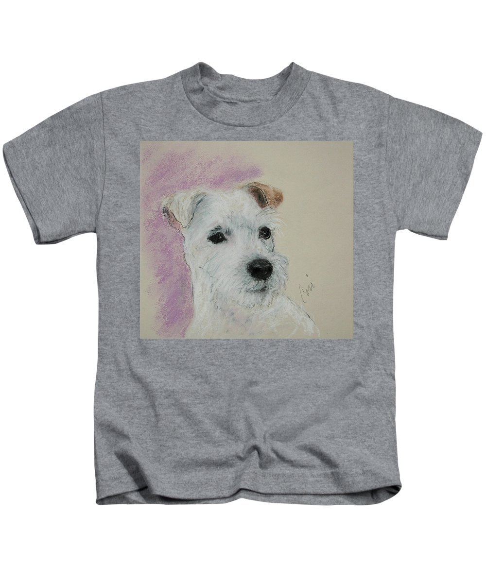 Pastel Kids T-Shirt featuring the drawing What A Riot by Cori Solomon