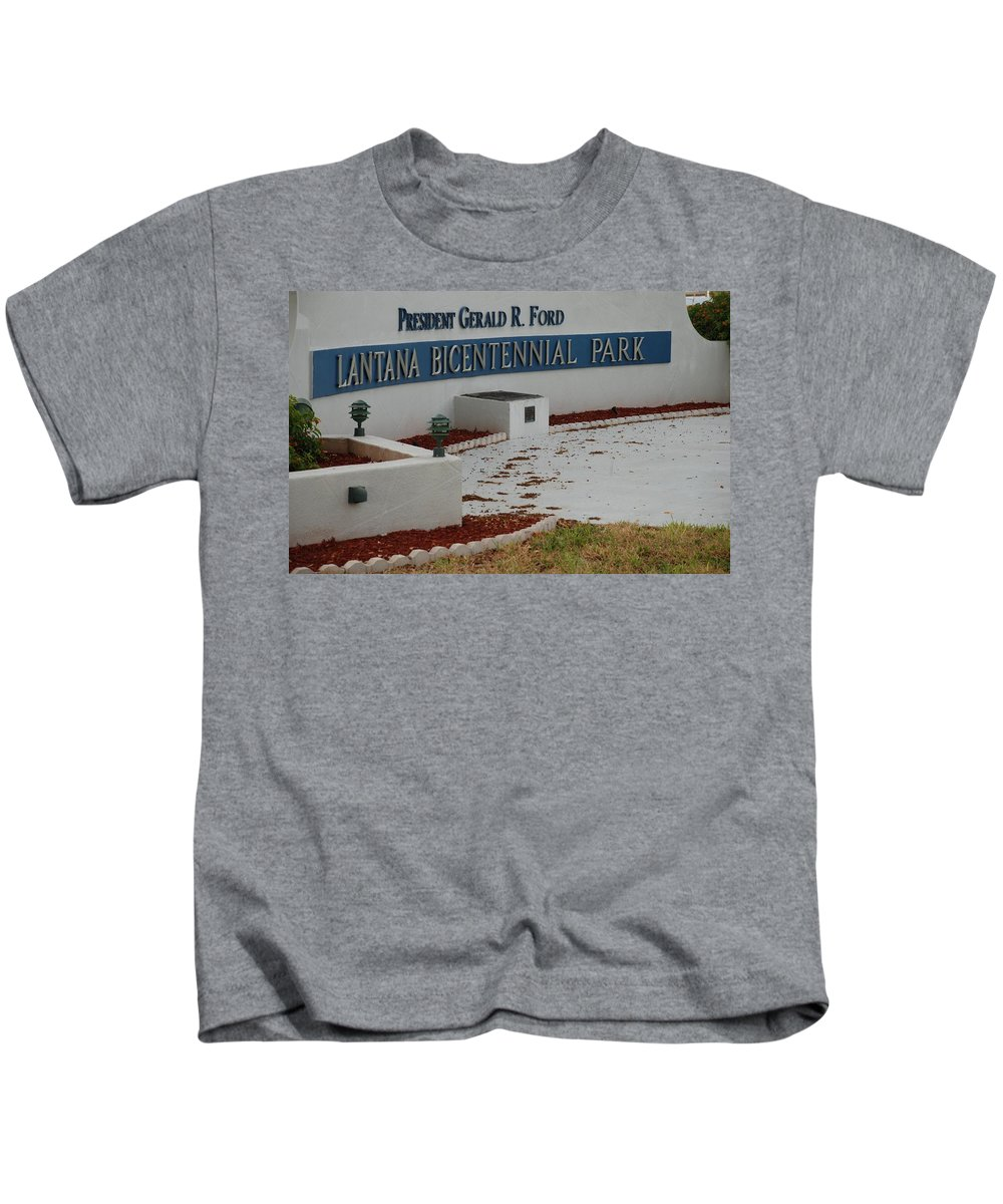 Landscapes Kids T-Shirt featuring the photograph What It Says by Rob Hans