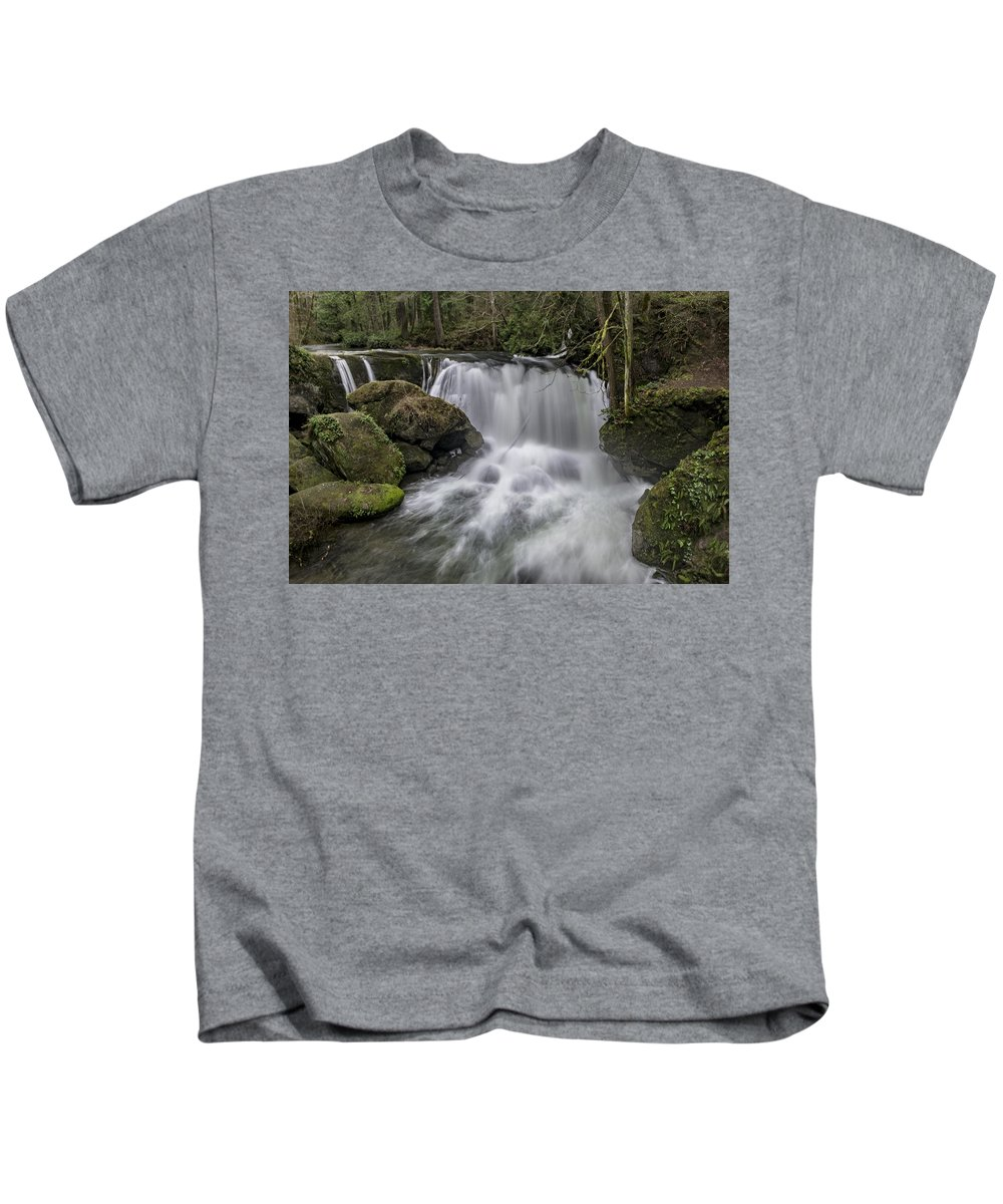 Bellingham Kids T-Shirt featuring the photograph Whatcom Falls by Stephen Coletta