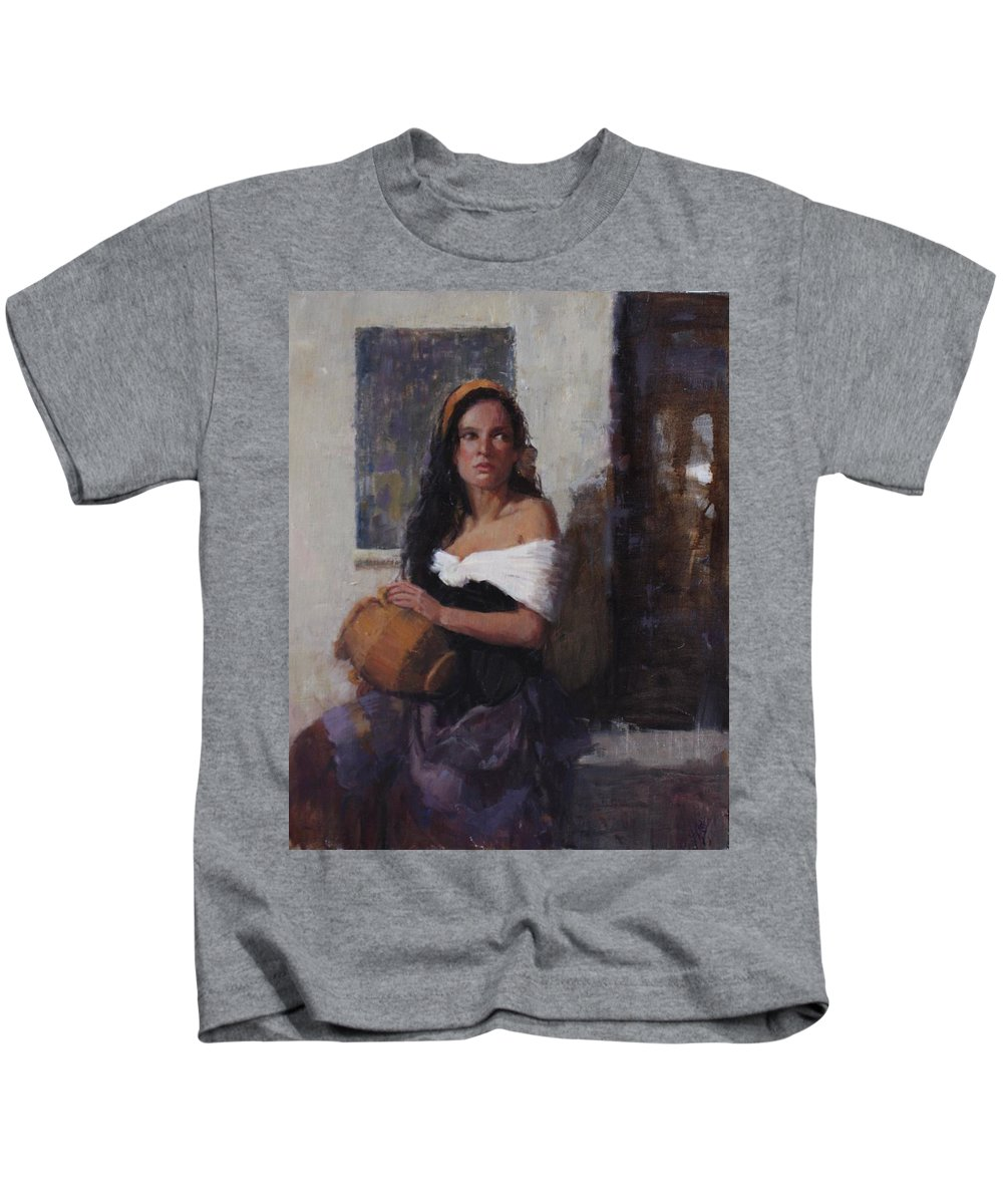 Figure Kids T-Shirt featuring the painting Where Is That Living Water? by Hope Reis