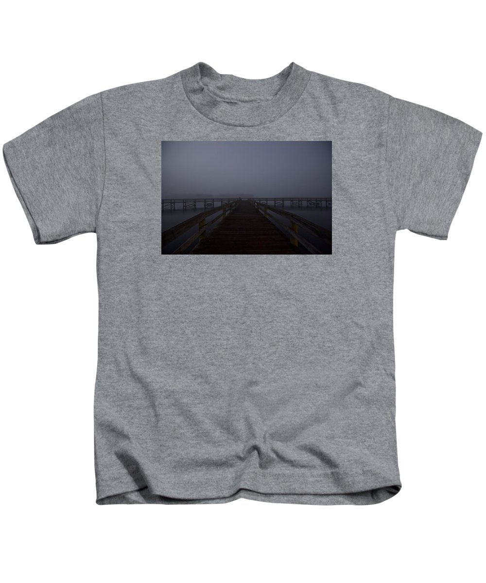 Fog Kids T-Shirt featuring the photograph Which Way by Regina Williams