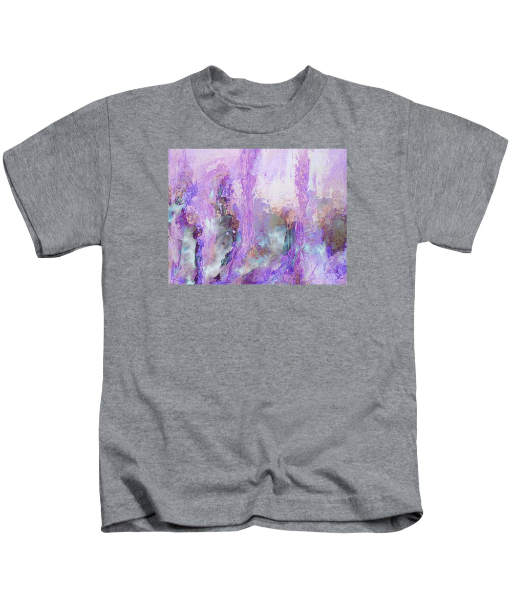 Abstract Art Kids T-Shirt featuring the digital art Whisper Softly by Linda Murphy