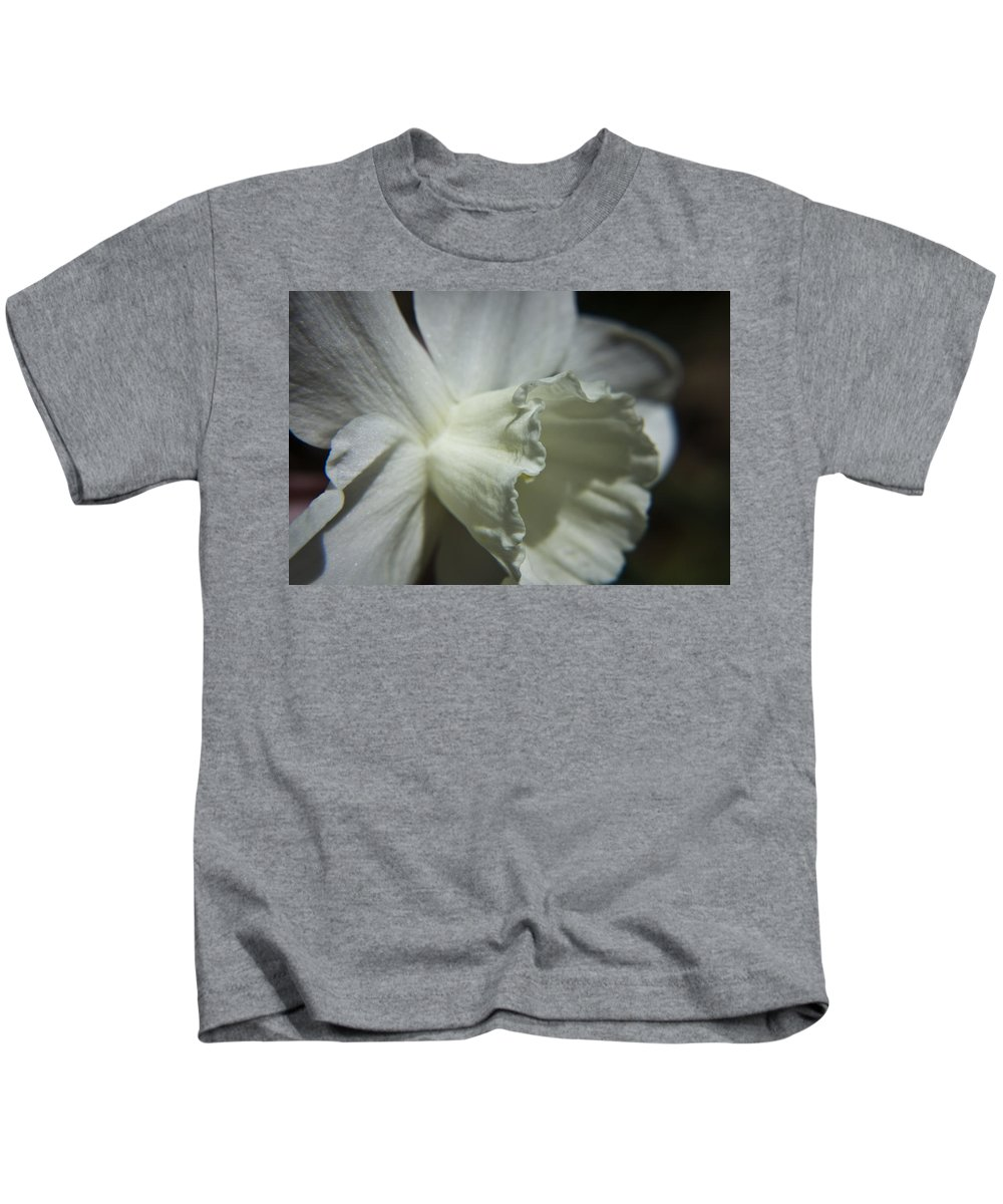 Flower Kids T-Shirt featuring the photograph White Daffodil by Teresa Mucha