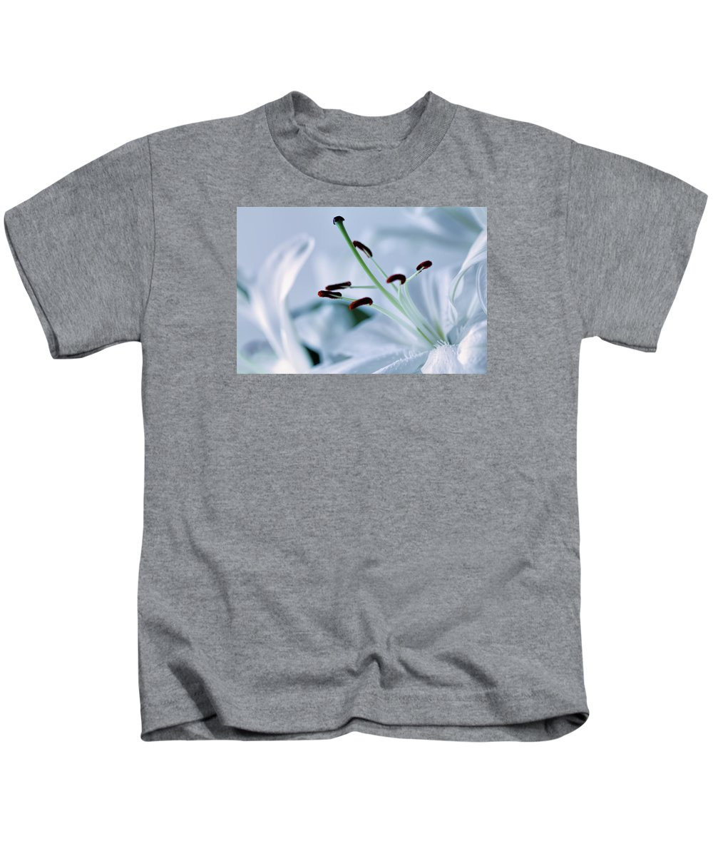 Beautiful Kids T-Shirt featuring the photograph White Lily Triptych Part3 by Christophe Fruyt