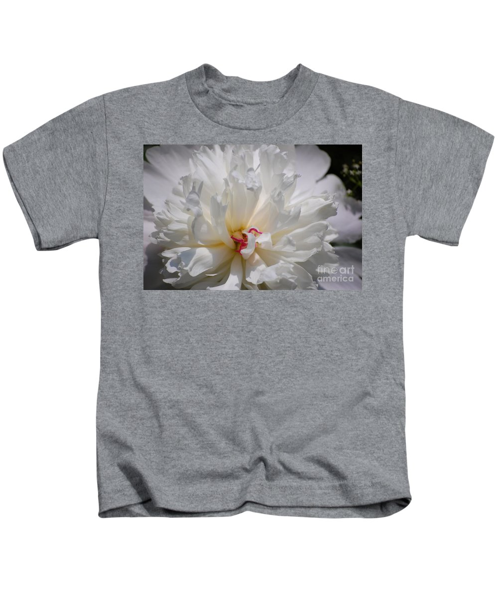Digital Photography Kids T-Shirt featuring the photograph White Peony by David Lane