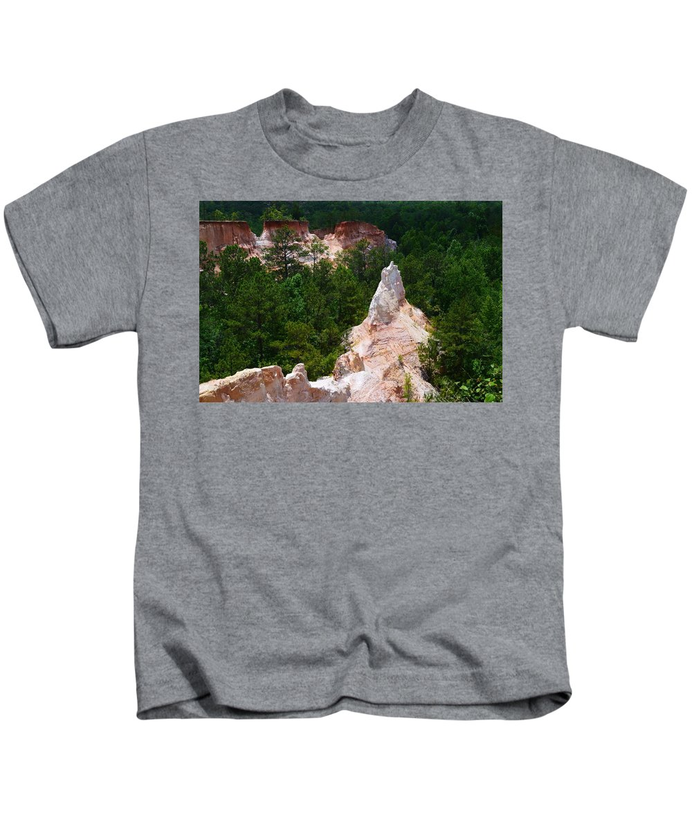 White Pinniacle Kids T-Shirt featuring the photograph White Pinniacle by Warren Thompson