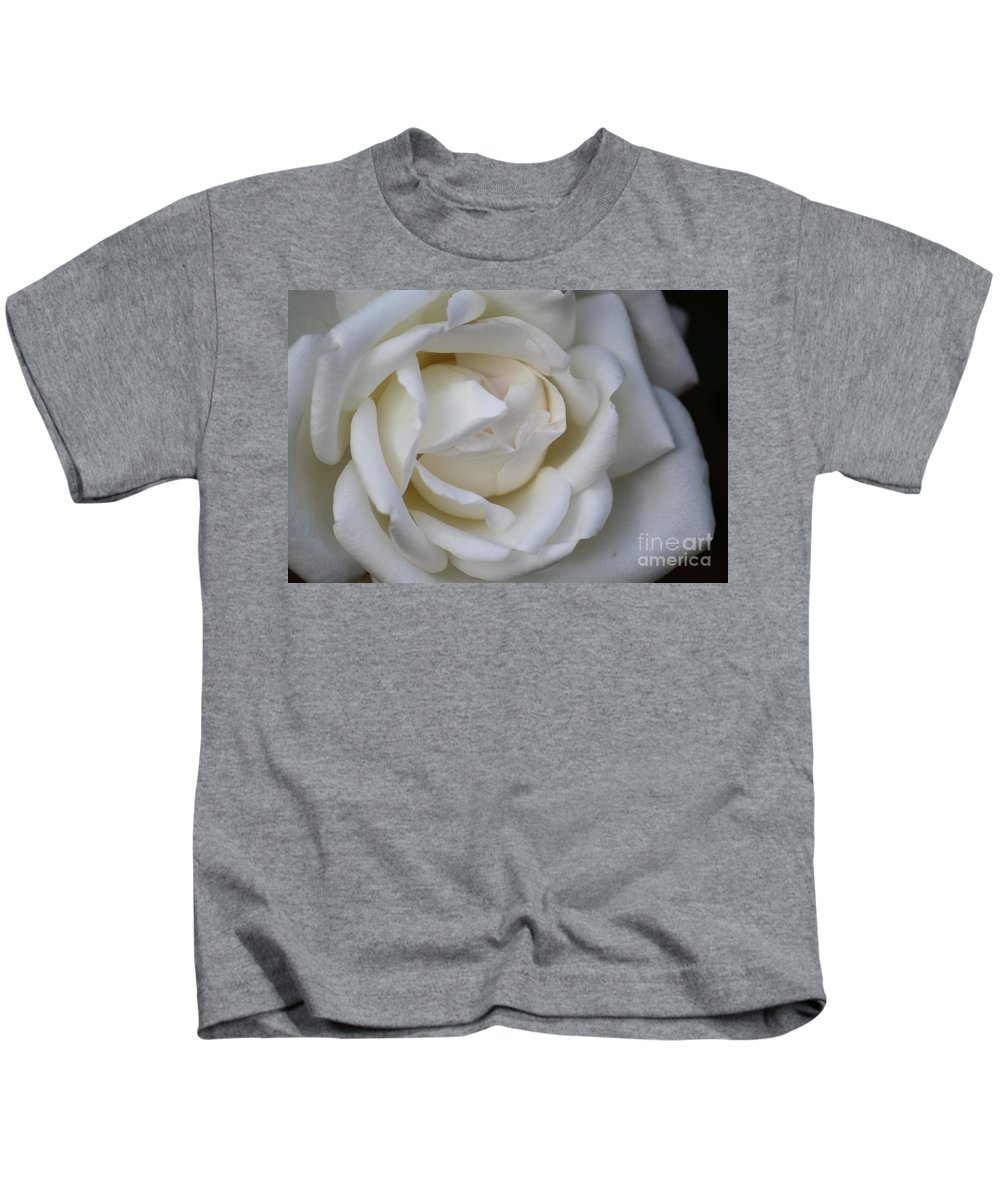 White Kids T-Shirt featuring the photograph White Rose2 by Carol Turner