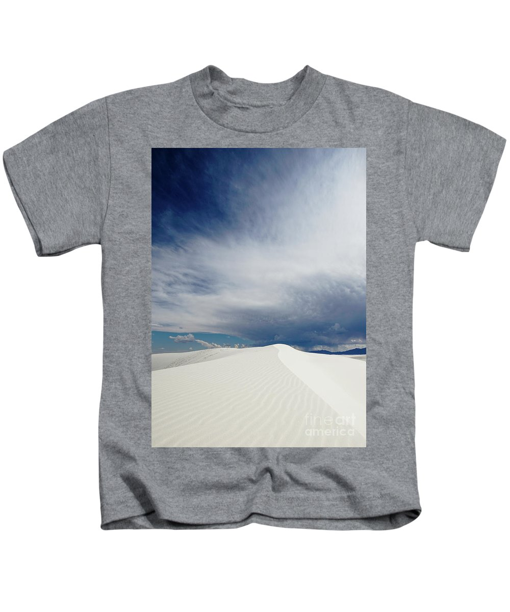 White Sands National Monument Kids T-Shirt featuring the photograph White Sands by DiFigiano Photography