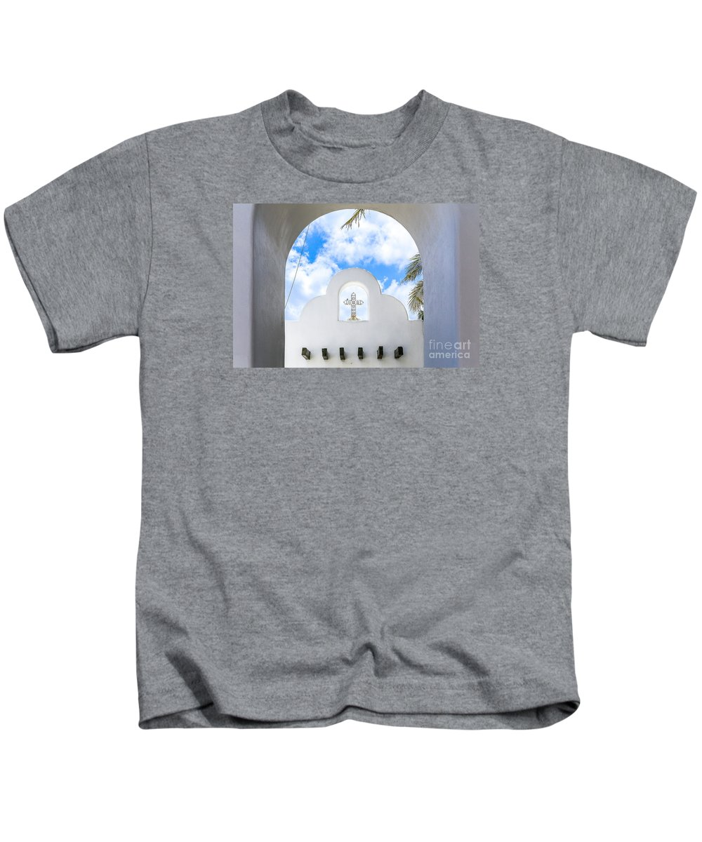 Church Kids T-Shirt featuring the photograph White The Color Of Innocence by Fabrizio Filippini