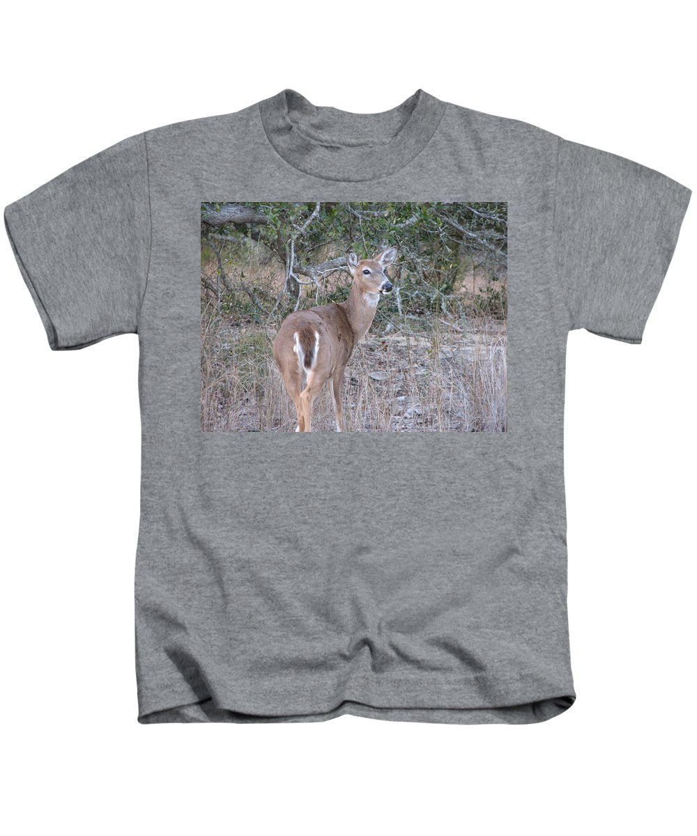 Deer Kids T-Shirt featuring the photograph Whitetail Deer II by Stacey May