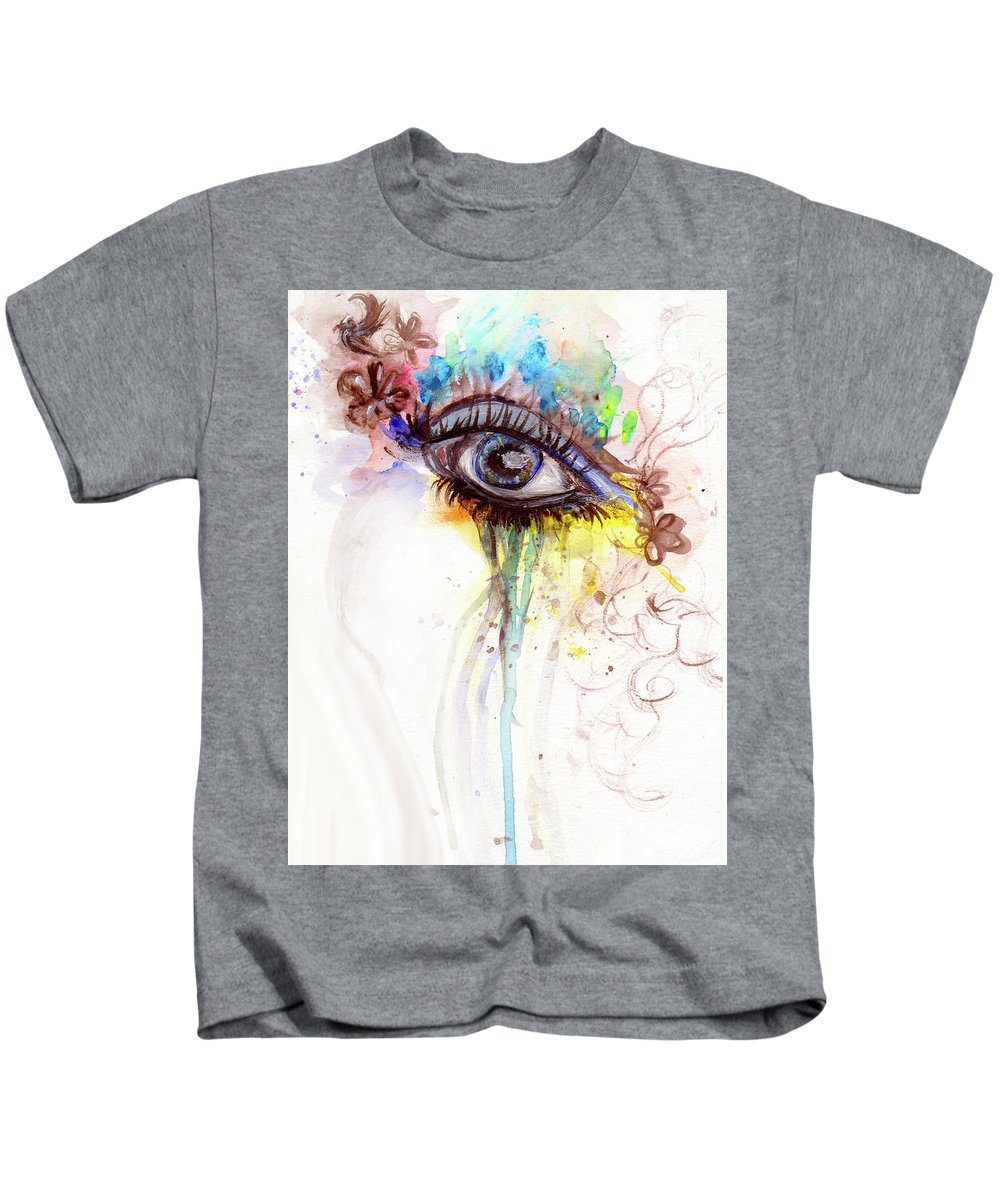 Kids T-Shirt featuring the painting Wide Open by Destiny Womack
