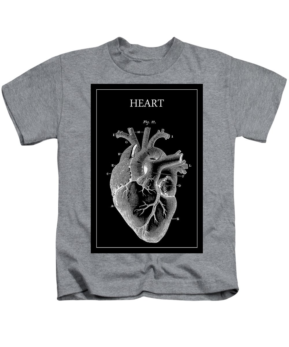 Heart Kids T-Shirt featuring the digital art Widow Maker Heart 2 by Daniel Hagerman