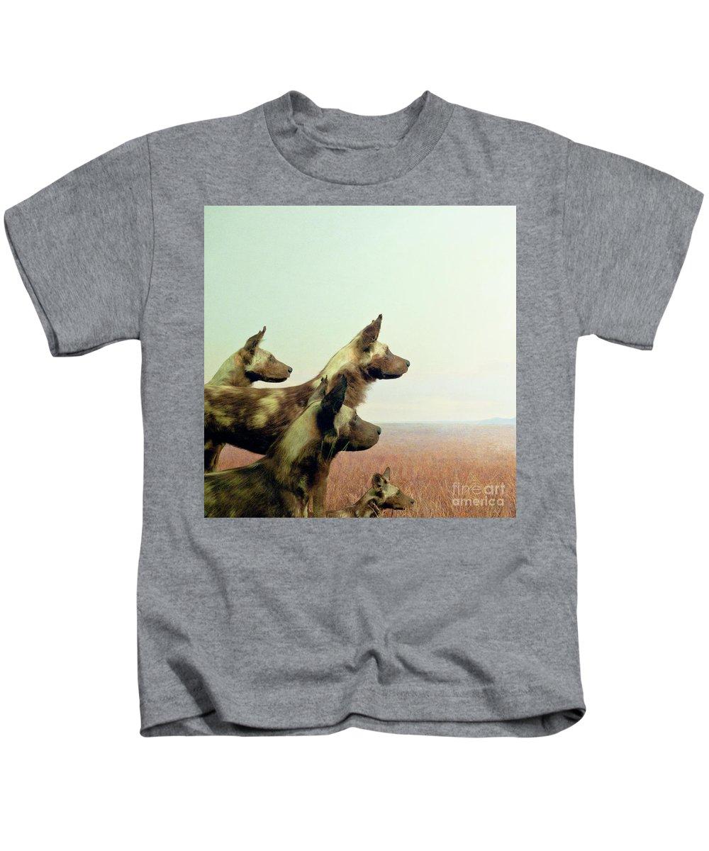 Wild Dog Kids T-Shirt featuring the photograph Wild Dog by Zena Zero