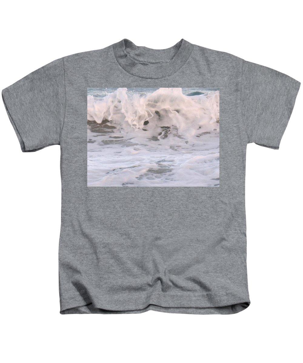 Surf Kids T-Shirt featuring the photograph Wild Surf by Ian MacDonald