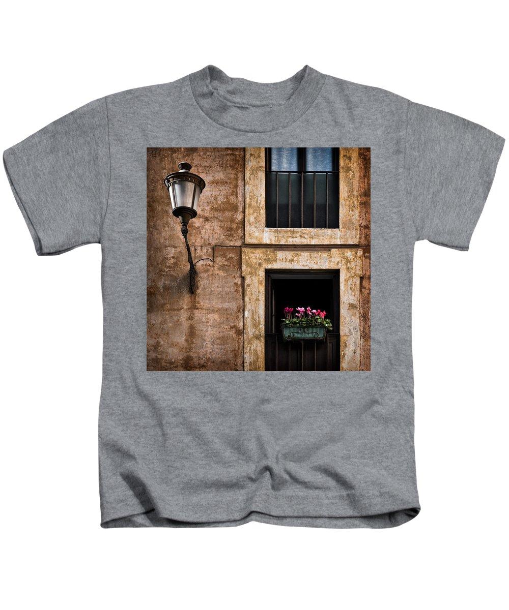Window Box Kids T-Shirt featuring the photograph Window Box by Dave Bowman