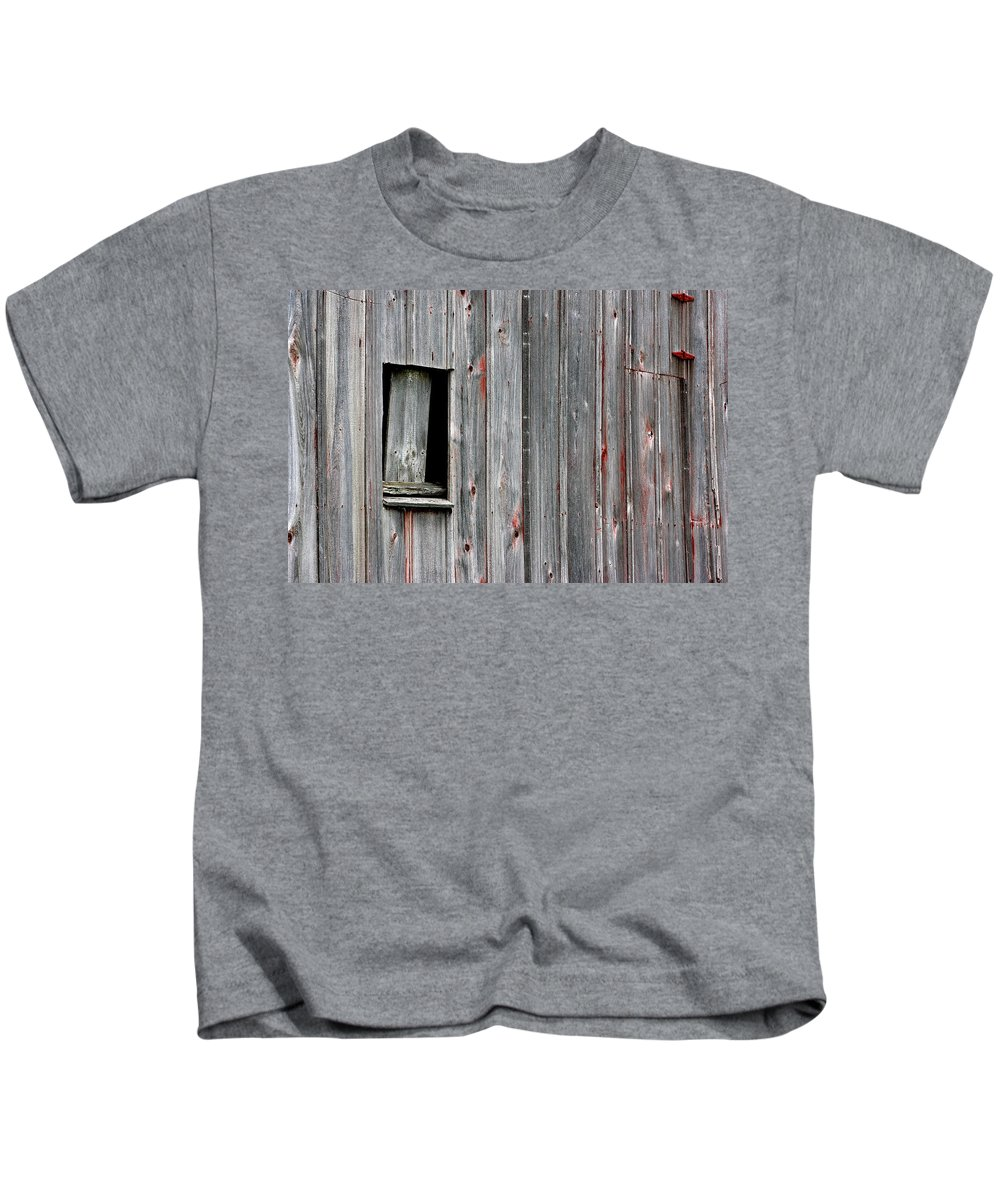 Abandoned Kids T-Shirt featuring the photograph Window Of Past Times by Alan Look