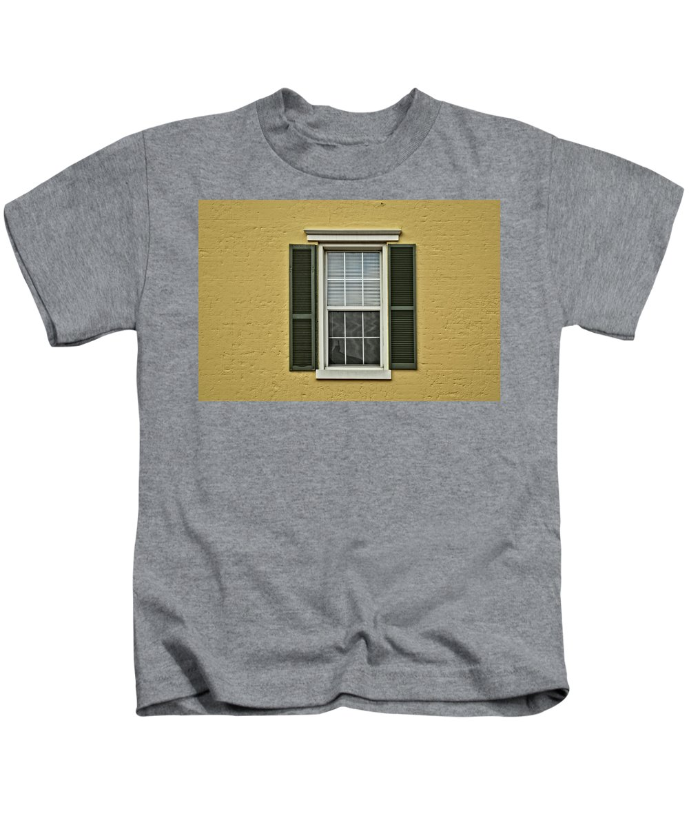 Home Minimalism Kids T-Shirt featuring the photograph Window Style by Dan Zarate