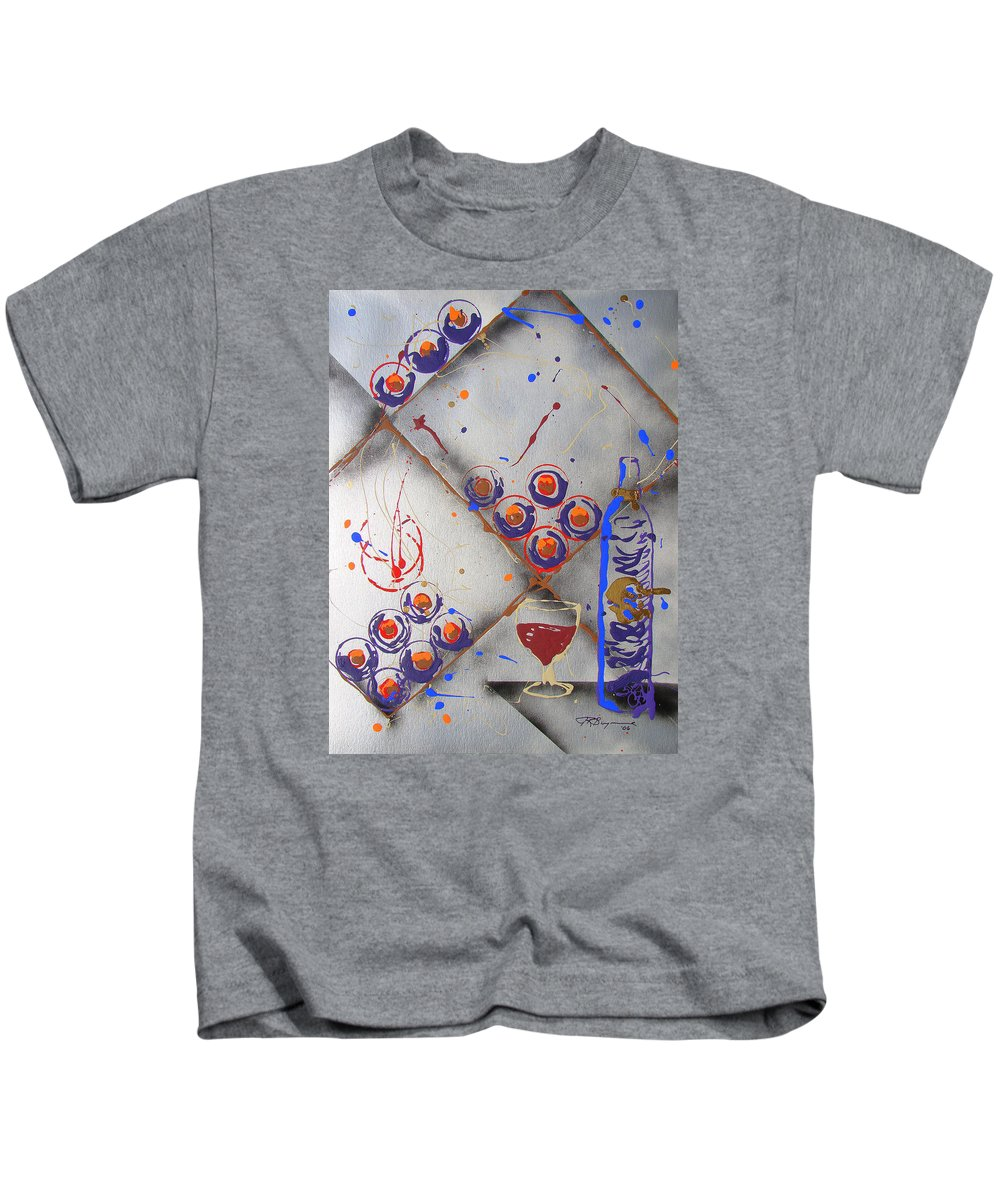 Wine Kids T-Shirt featuring the painting Wine Connoisseur by J R Seymour