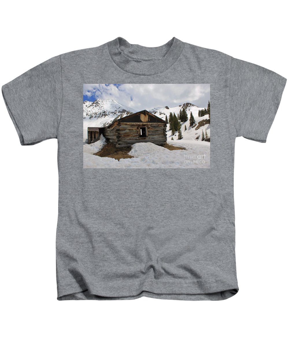 Nature Kids T-Shirt featuring the photograph Winter At The Boston Mine 4 by Tonya Hance