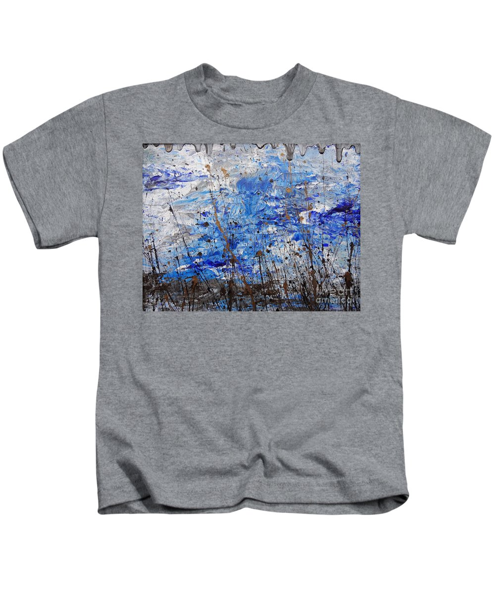 Winter Crisp Kids T-Shirt featuring the painting Winter Crisp by Jacqueline Athmann