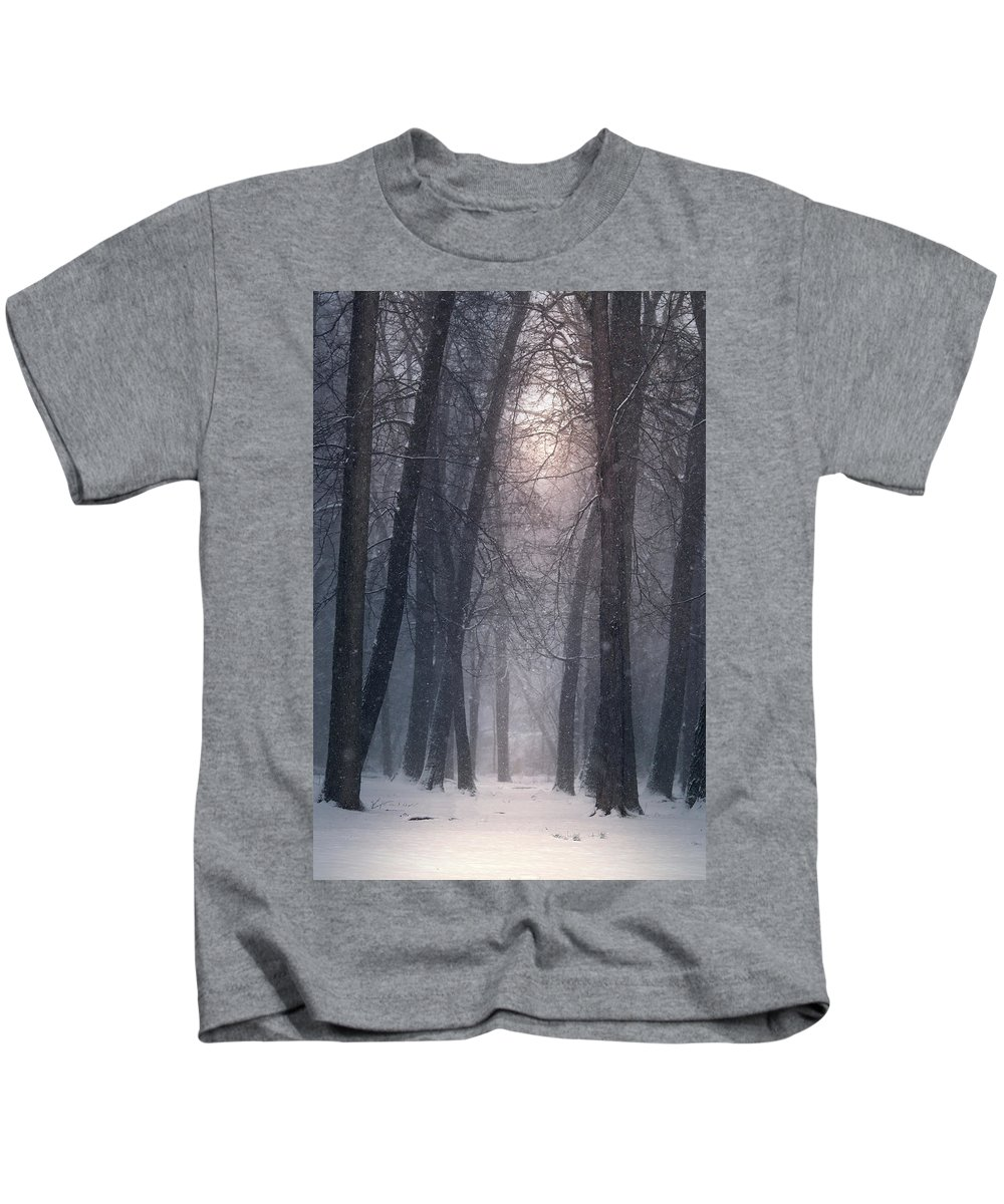 Kids T-Shirt featuring the photograph Winter Hush by Rob Blair