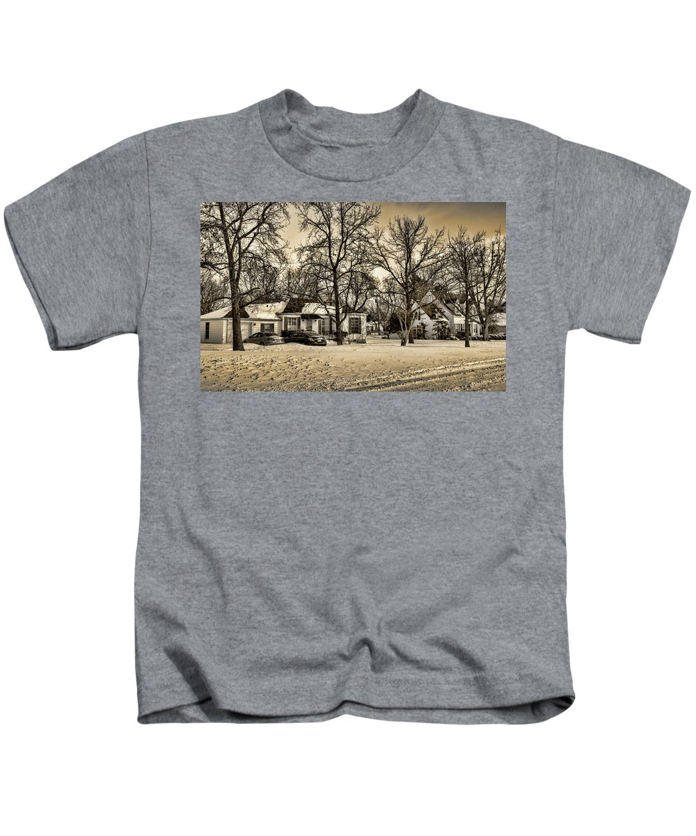 Winter Kids T-Shirt featuring the photograph Winter Snow by Ricky Barnard