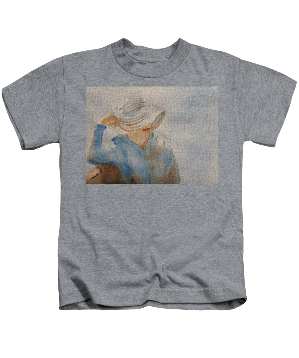 Girls Kids T-Shirt featuring the painting Winter Sun I by Jenny Armitage