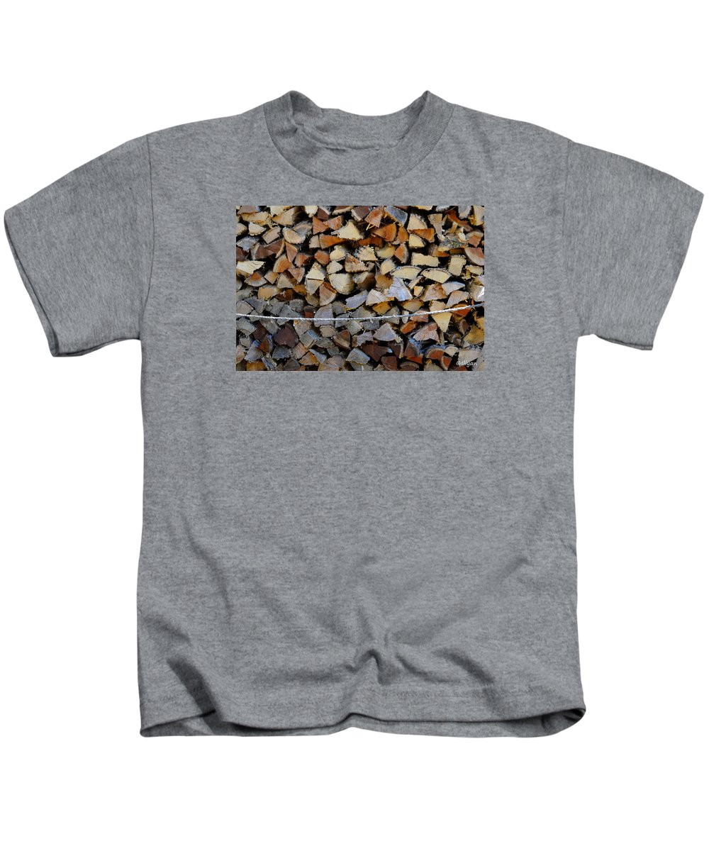 Firewood Kids T-Shirt featuring the photograph Winter Survival Kit 2 by Iliyan Bozhanov