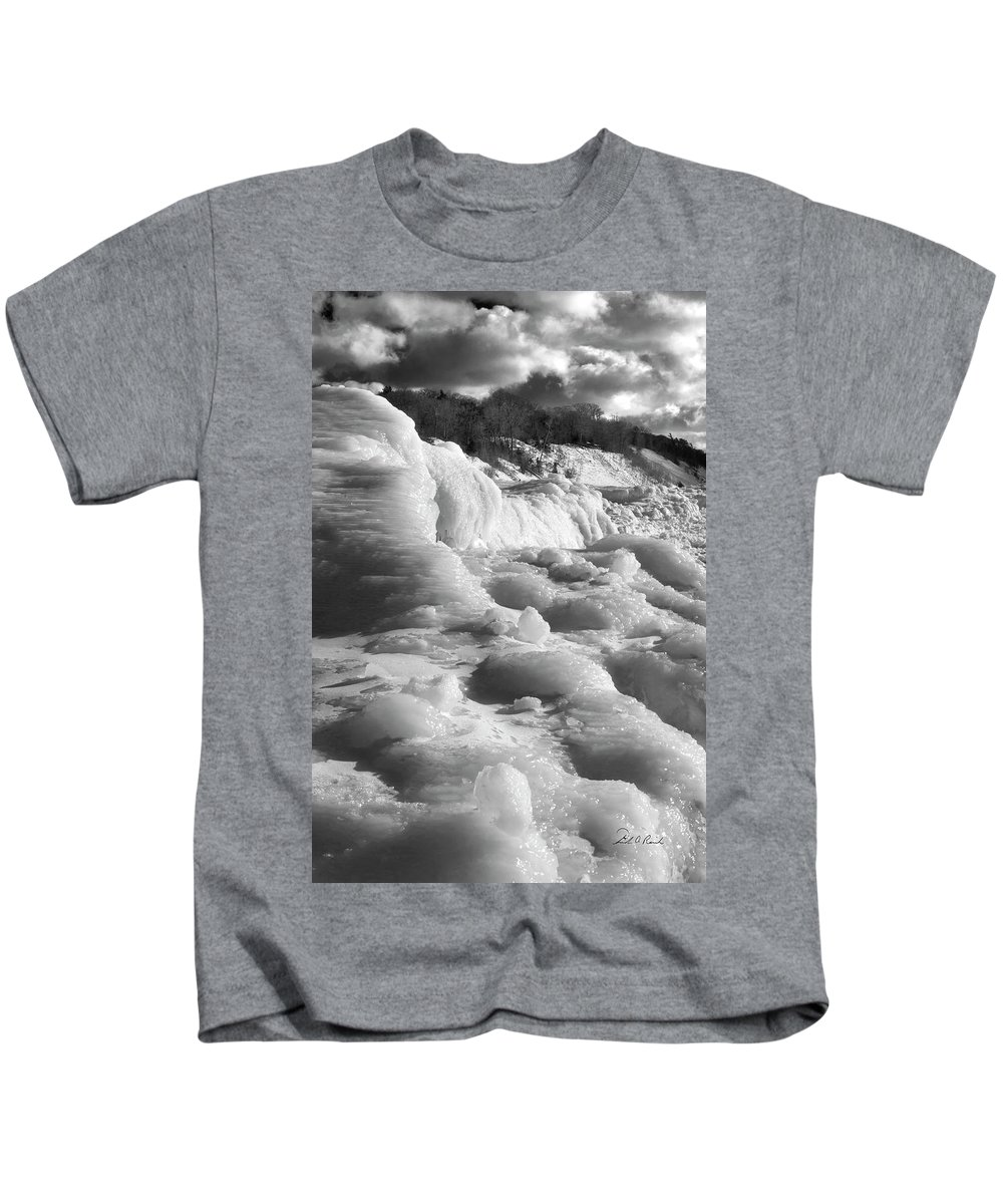 Photography Kids T-Shirt featuring the photograph Winter Texture by Frederic A Reinecke
