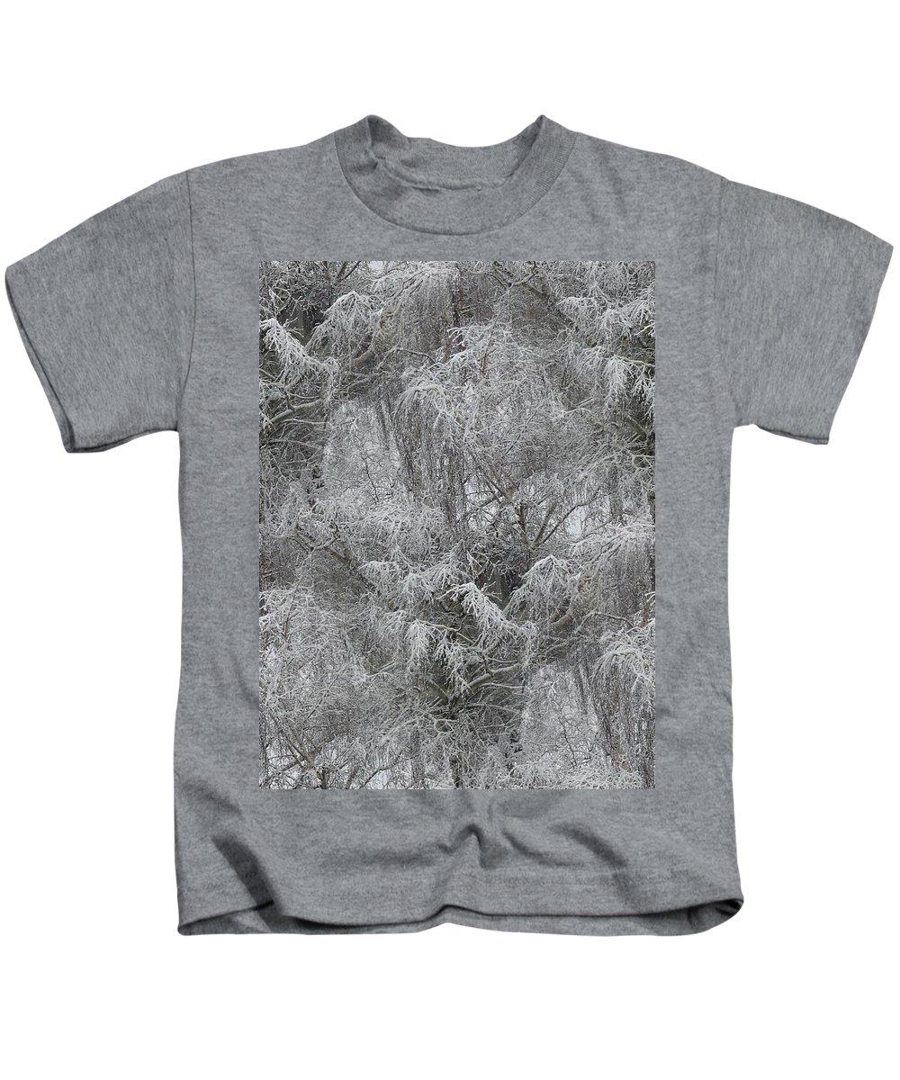 Winter Kids T-Shirt featuring the photograph Winter Trees by Tim Allen