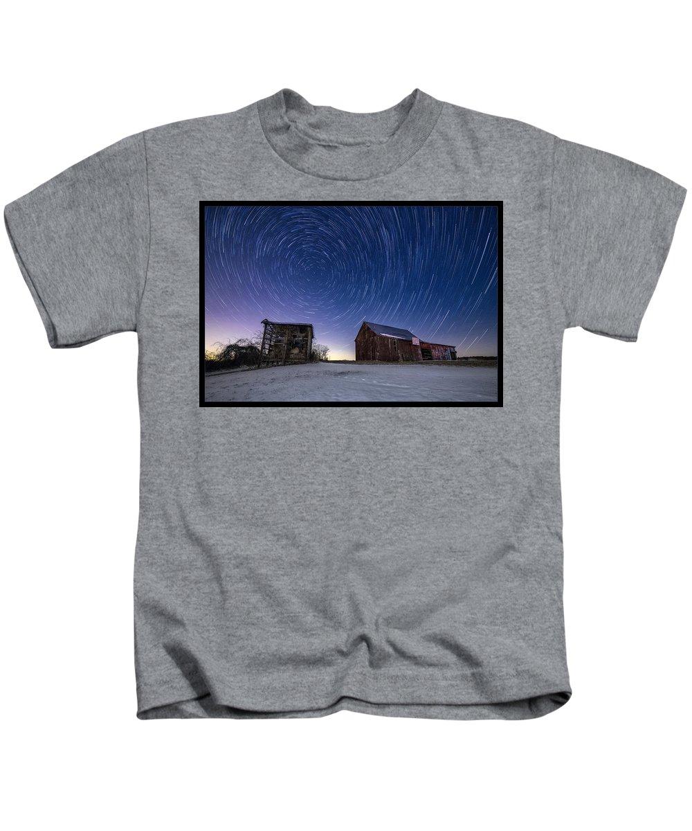 Maryland Kids T-Shirt featuring the photograph Winter Vortex by Robert Fawcett