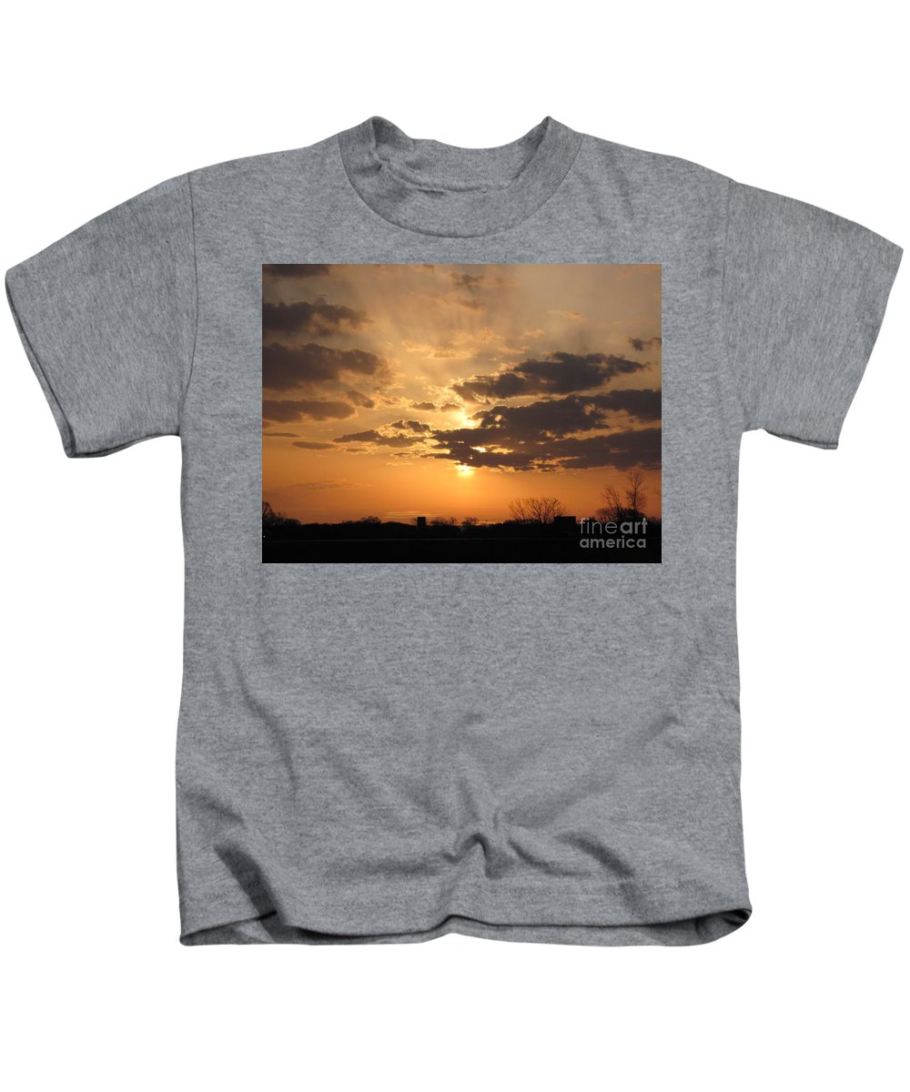 Winter Kids T-Shirt featuring the photograph Winters Dawn by Tommy Anderson