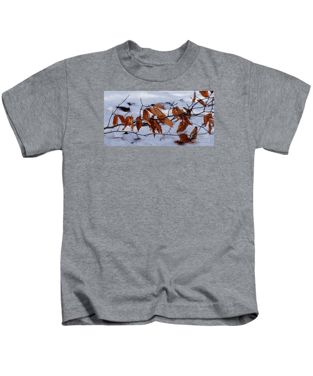 Autumn Kids T-Shirt featuring the photograph With Autumn's Passing by Linda Shafer