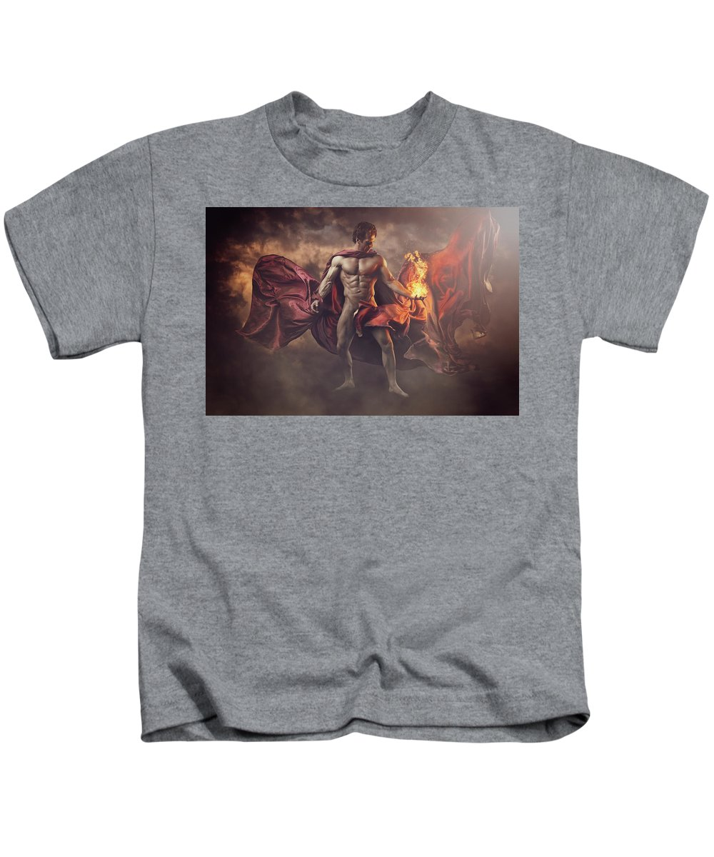 Bombelkie Kids T-Shirt featuring the photograph Wizard by Marcin and Dawid Witukiewicz