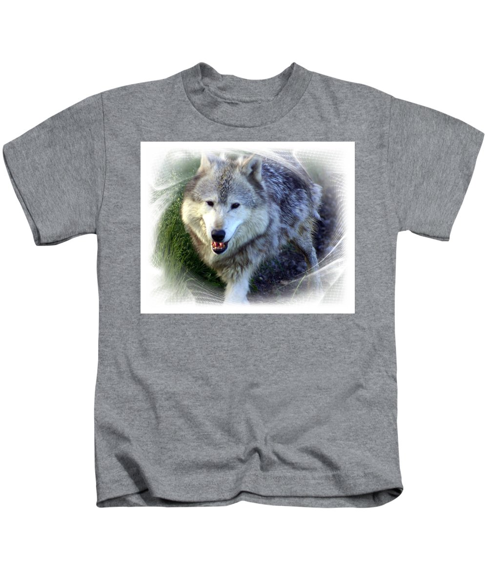 Wolf Kids T-Shirt featuring the photograph Wolf by Marty Koch