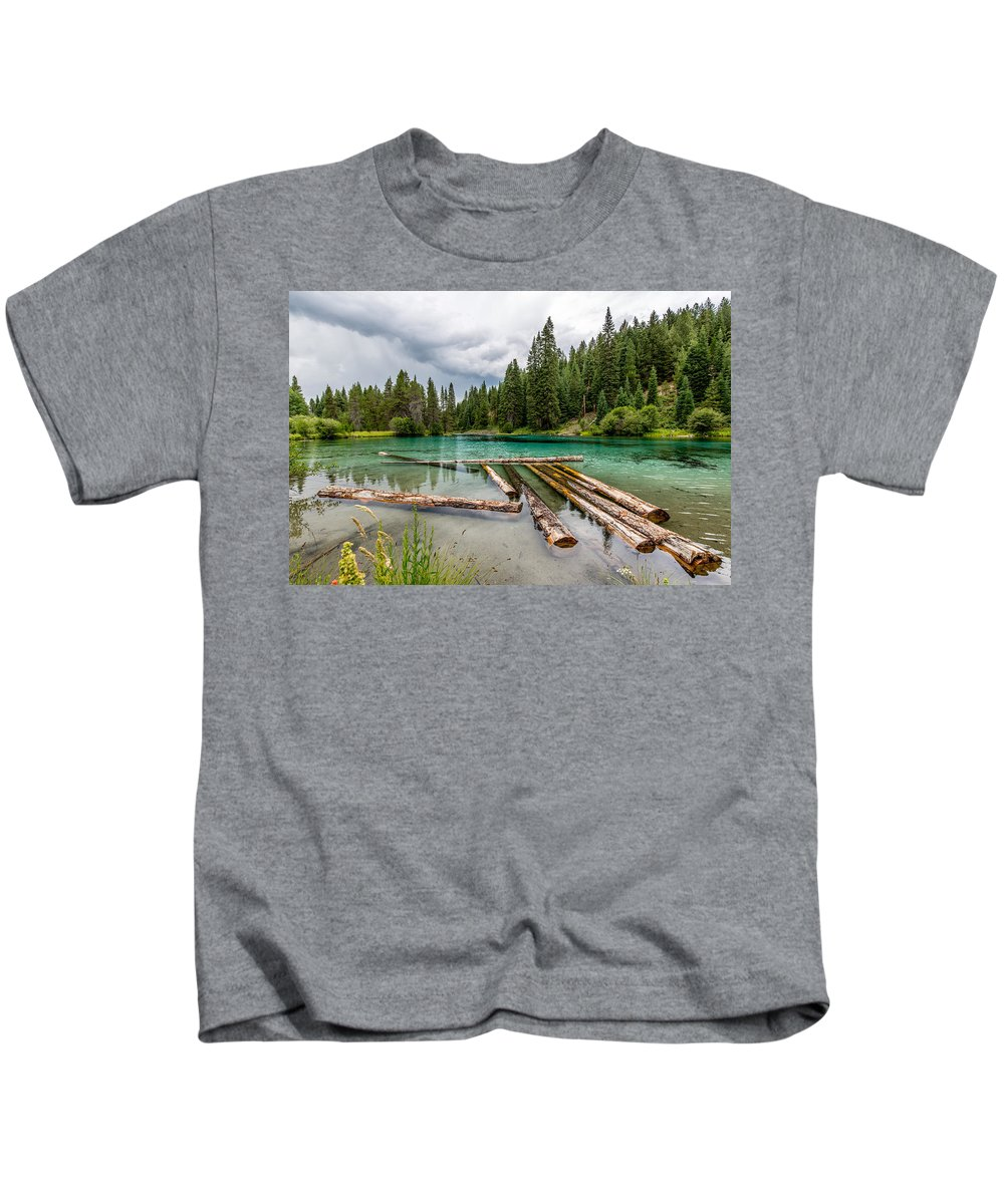 Oregon Kids T-Shirt featuring the photograph Wood River 04 by Michael Parks