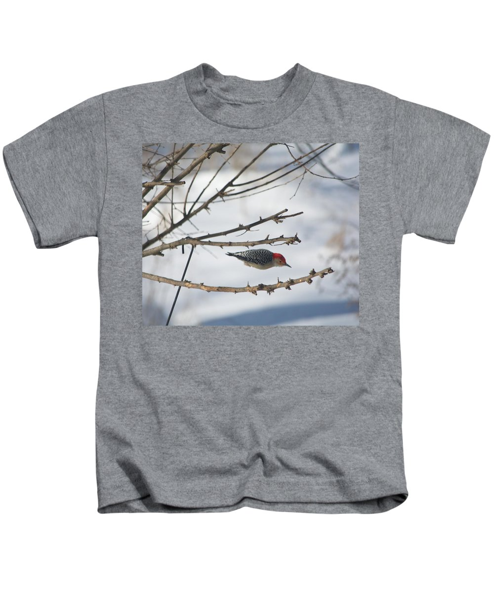 Woodpecker Kids T-Shirt featuring the photograph Woodpecker Diver by Russ L Busse