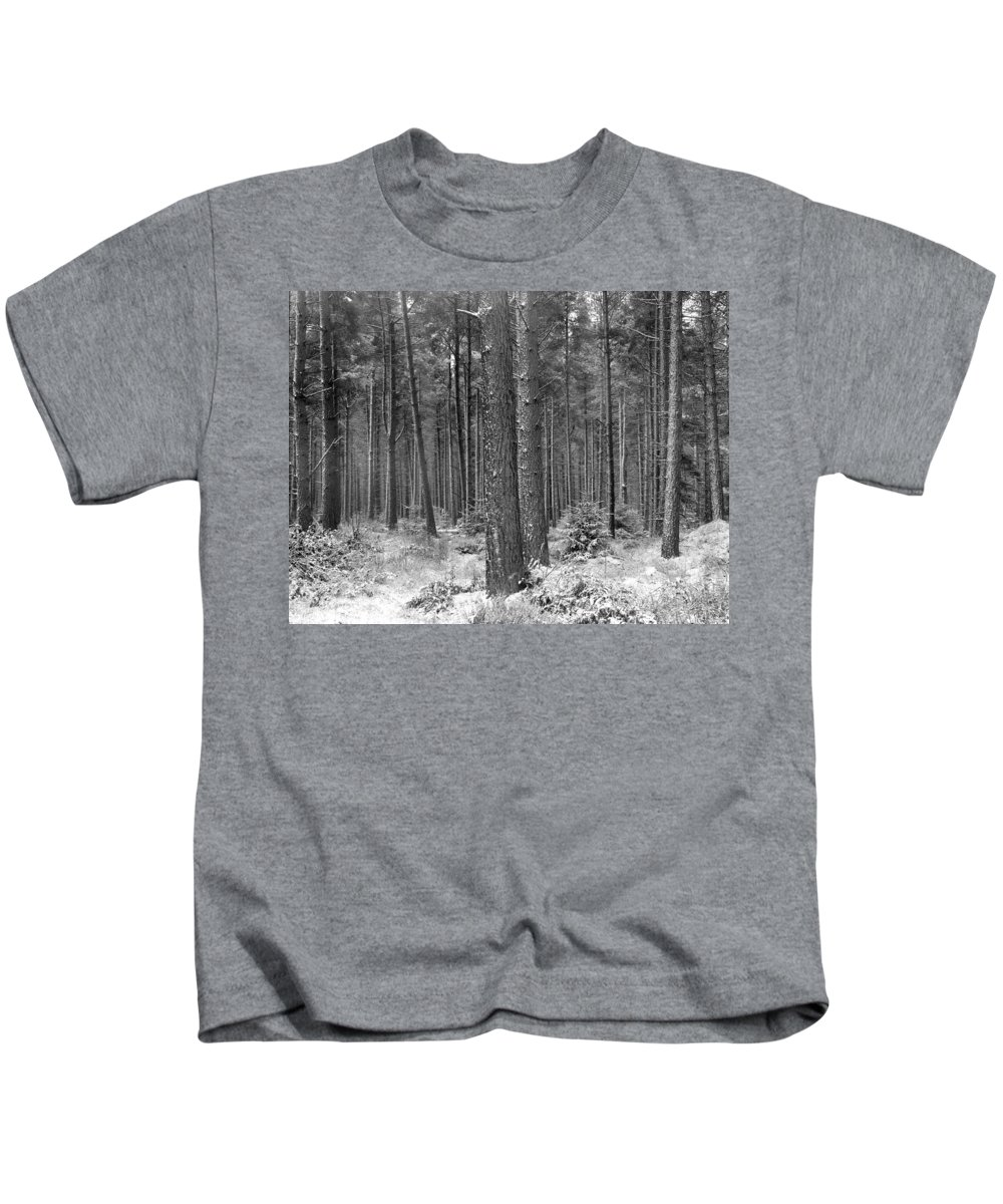 Kids T-Shirt featuring the photograph Woods In Winter, Slaley by Iain Duncan
