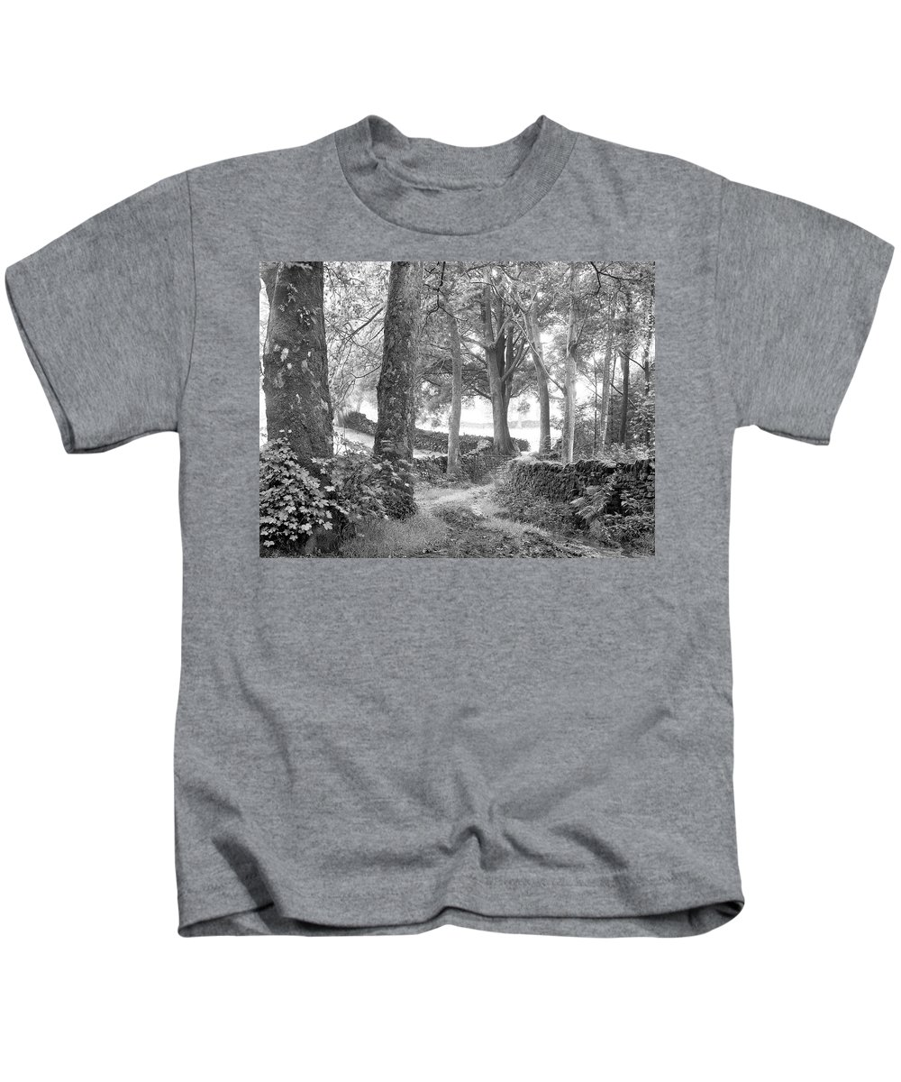 Kids T-Shirt featuring the photograph Woods, Troutbeck, Windermere by Iain Duncan