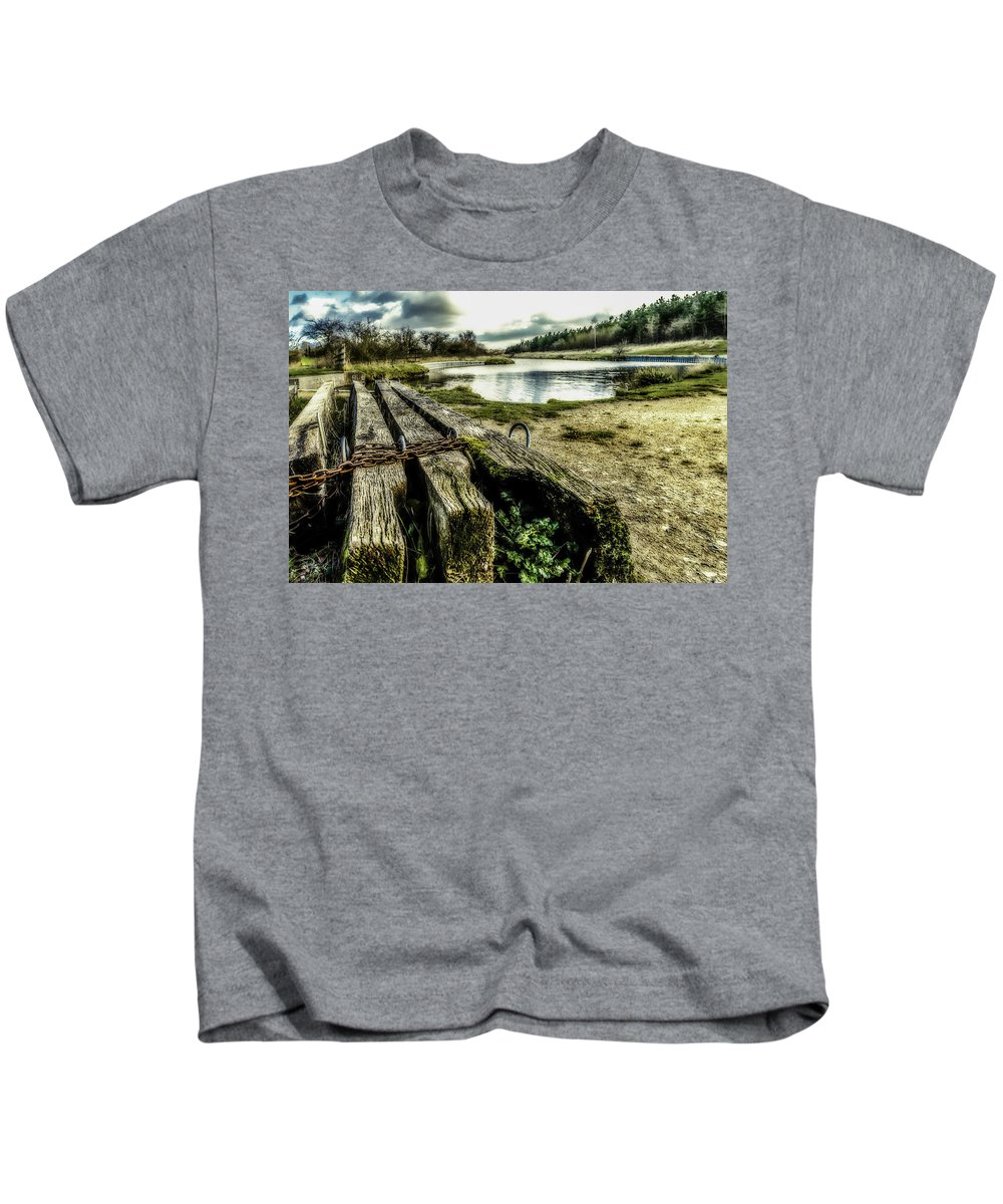 Canal Kids T-Shirt featuring the photograph Woodside by Nick Bywater