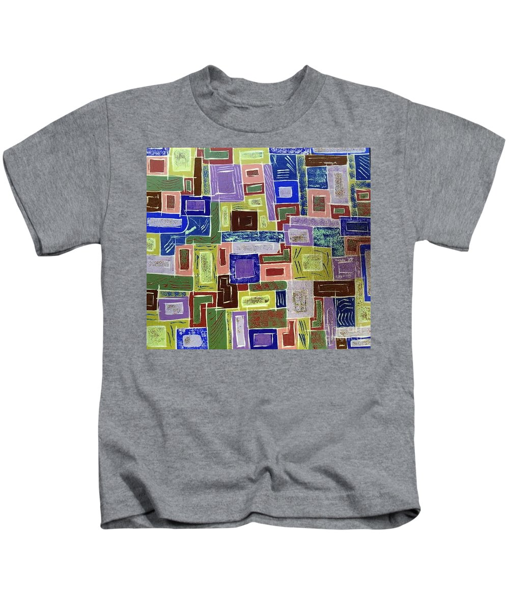 Working Kids T-Shirt featuring the painting Working The City by Dawn Hough Sebaugh
