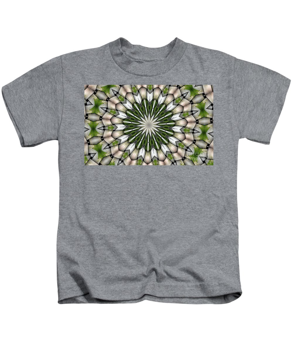 Abstract Kids T-Shirt featuring the digital art Woven Circle by Ron Bissett