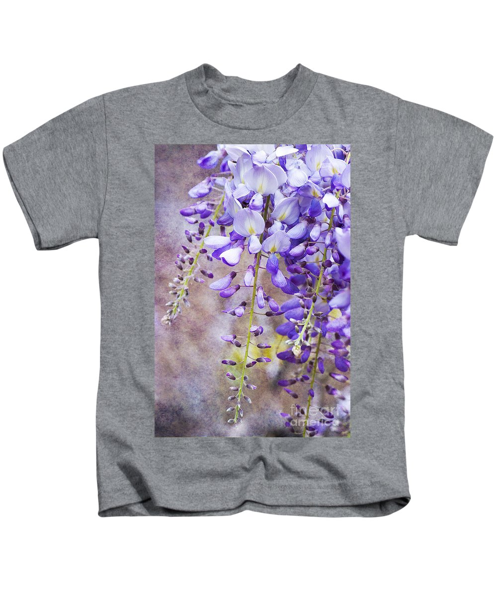 Wysteria Kids T-Shirt featuring the photograph Wysteria by Jim And Emily Bush