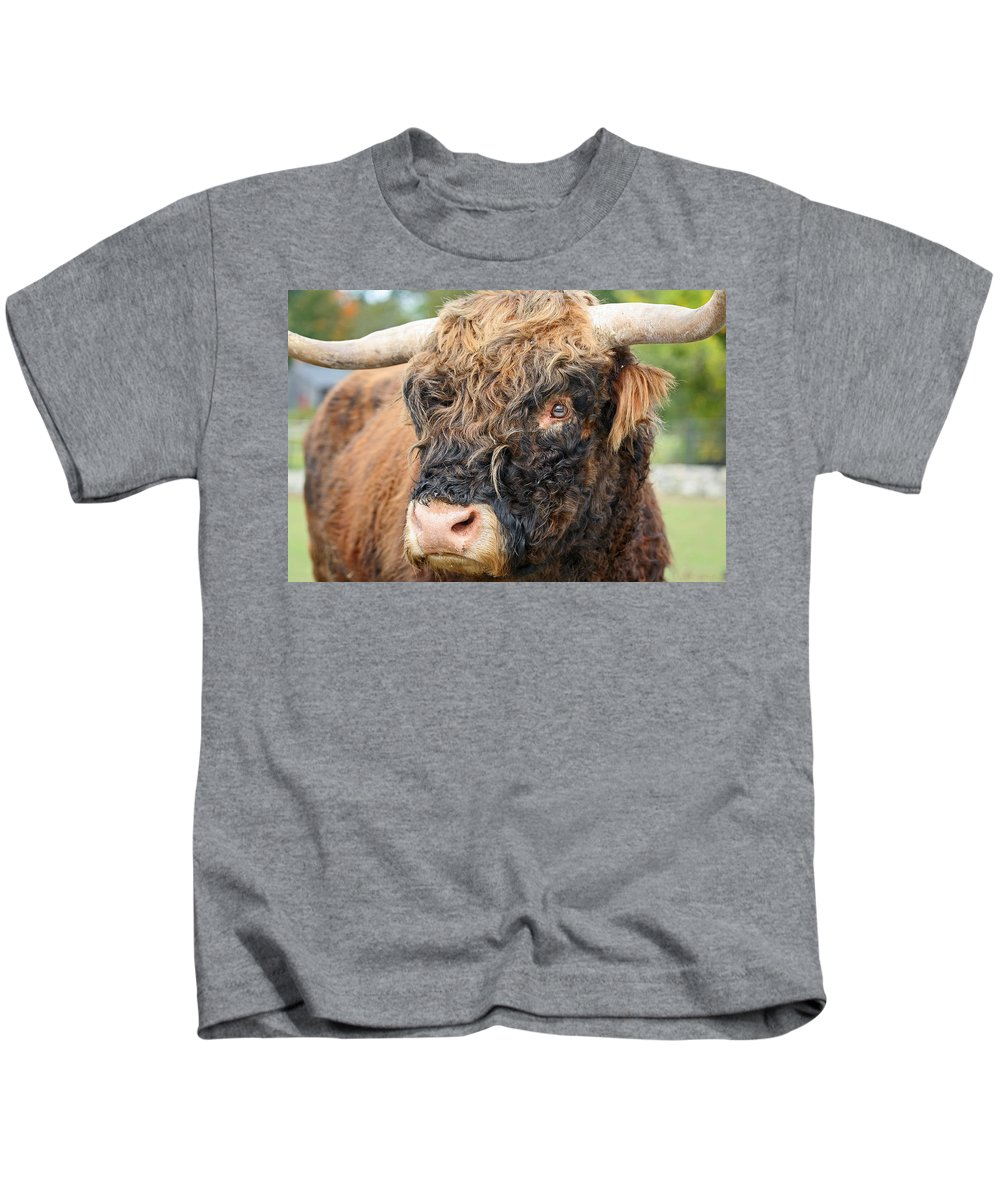 Yak Kids T-Shirt featuring the photograph Yakity Yak by Karol Livote