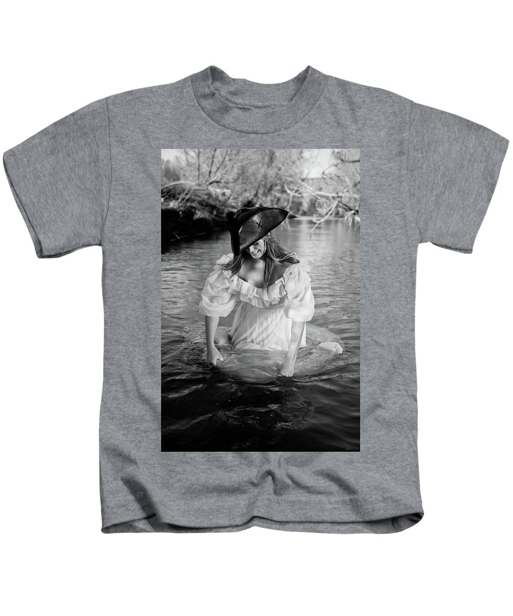 Fording A River Kids T-Shirt featuring the photograph Ye Olde Lass by Scott Sawyer